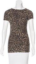 Sea Jacquard Leopard Print Top