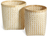 Marks and Spencer Handwoven Bamboo Set Of 2 Round Baskets