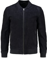 Selected Homme Shndublin Leather Jacket Dark Navy