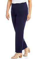 Allison Daley Plus Comfort Knit Slim Leg Pull-On Pants