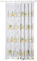 Danica Studio Llamarama Tasseled Cotton Shower Curtain