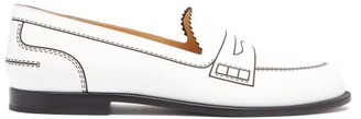 Christian Louboutin Mocalaureat Trompe L'oeil Leather Penny Loafers - Womens - White Black