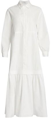 Co Essentials Poplin Tier Midi Dress
