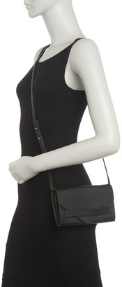 Christopher Kon Envelope Leather Clutch With Crossbody Strap