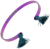 IaM by Ileana Makri Light Purple Titan Cuff Bracelet - Petrol Tassels