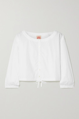 Le Sirenuse Positano Jinny Cropped Cotton Top - White