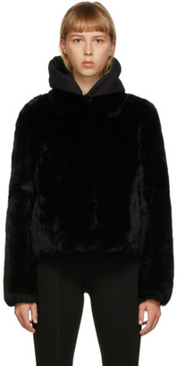 Yves Salomon Meteo Yves Salomon - Meteo Black Fur Crop Jacket
