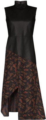 Salvatore Ferragamo Panelled Sleeveless Midi Dress