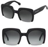 Women's Perverse Blazin 50Mm Square Sunglasses - Black/ Black