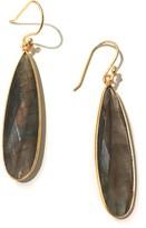 Charlene K 14K Gold Plated Sterling Silver Labadorite Teardrop Earrings