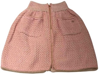 Chanel Pink Tweed Skirt for Women