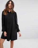 Asos Design DESIGN Long Sleeve Mini Shirt Dress