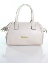 Catherine Malandrino Light Pink Leather Gold Tone Perforated Shoulder Handbag