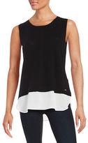 Calvin Klein Knit Contrast Top