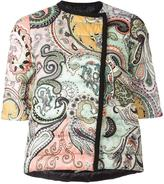 Etro three-quarters sleeve padded jacket - women - Polyamide/Polyester/Goose Down/Duck Feathers - 40