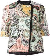 Etro three-quarters sleeve padded jacket