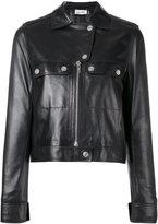 Courreges cropped biker jacket