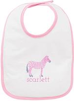 Princess Linens White & Pink Zebra Personalized Bib