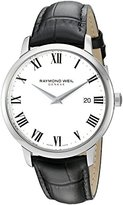 Raymond Weil Men's 'Toccata' Swiss Quartz Stainless Steel and Leather Automatic Watch, Color:Black (Model: 5488-STC-00300)