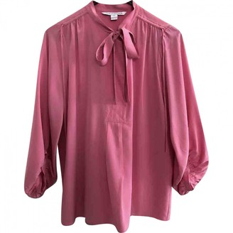 Diane von Furstenberg Pink Silk Top for Women