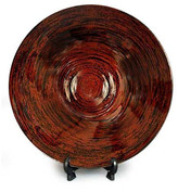 Novica Hypnotic Vision Lacquered Bamboo Plate