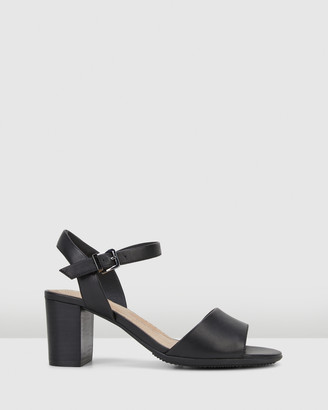 Hush Puppies Women's Black Heeled Sandals - Lindera - Size One Size, 6 at The Iconic