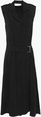 Victoria Beckham Belted Crepe Midi Dress