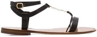 Santoni Shell Strap Sandals