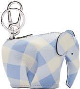 Loewe Blue and White Elephant Charm Keychain