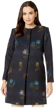 Pendleton Rose City Wool Coat (Rose City Jacquard) Women's Coat