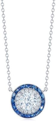 Kwiat Sapphire and Diamond Pendant Necklace