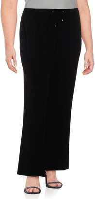 Calvin Klein Collection Plus Solid Wide-Legged Pants