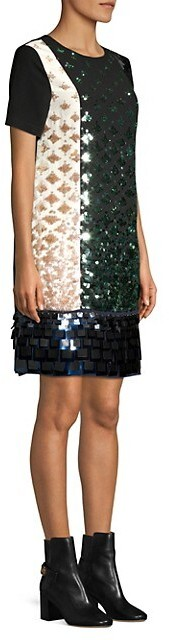 Thumbnail for your product : Tory Burch Colorblock Sequin Shift Dress