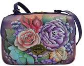 Anuschka Handpainted Painted Convertible Travel Organizer,Lush Lilac