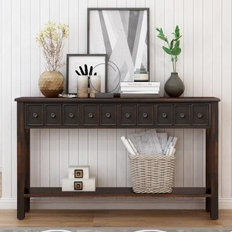 """Rosecliff Heights Worsham 60.03"""" Console Table Color: Black"""