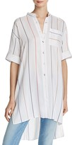 Alice + Olivia Alverta High/Low Stripe Shirt