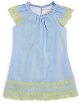 Kate Spade Girls' Embroidered Seersucker Dress - Sizes 2-6