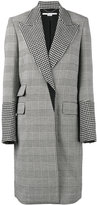 Stella McCartney Odelia check coat - women - Cotton/Polyamide/Spandex/Elastane/Wool - 40