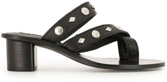 Senso Open Toe Studded Loafers