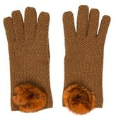 Loro Piana Fur-Trimmed Cashmere Gloves