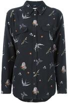 Equipment birds print shirt - women - Silk - M