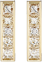 Jennifer Meyer Women's White Diamond Vertical-Bar Stud Earrings