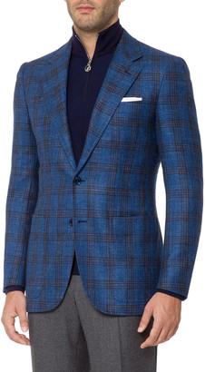 Stefano Ricci Men's Windowpane Plaid Sport Jacket
