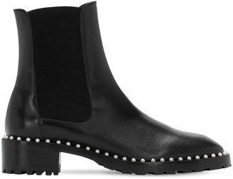 Stuart Weitzman 25mm Ashlyn Leather Beatle Boots