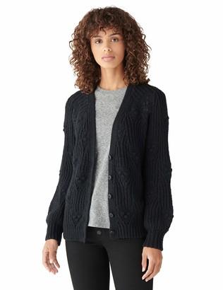 Lucky Brand Women's Long Sleeve Button Down Textured Stitch Cardigan