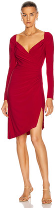 Norma Kamali Long Sleeve Sweetheart Dress in Red | FWRD