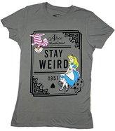 Disney Alice In Wonderland Stay Weird Juniors T-shirt (Extra Large,)