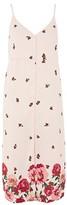 Topshop PETITE Floral Border Slip Dress