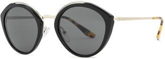 Prada Black round-frame sunglasses
