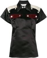 Calvin Klein front pin pockets blouse
